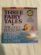 THREE FAIRY TALES Ugly Duckling/Sleeping Beauty Wonderland Record 45 RPM EP 60s