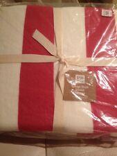 Pottery Barn Teen Cottage Stripe Blanket Full Queen Magenta Pink