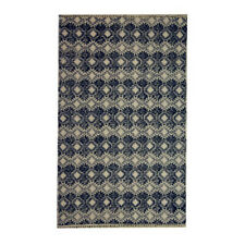 4' X 6' Rug in Black and White Geometric Printed Cotton 'Dhurrie'