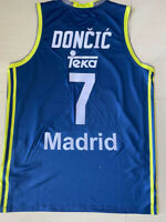 Blue Luka Doncic #7 Madrid Teka Basketball Jerseys Euroleague Top Print Jerseys