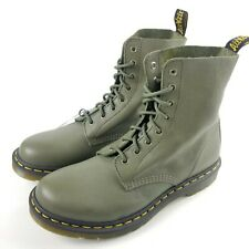 Dr. Martens Pascal Virginia Womens Leather Boots Khaki Olive Size US 11, EU 43