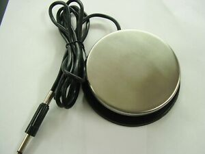 large tattoo machine foot pedal, stainless steel, non slip base,360 deg working