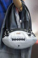 NEW Red24 Silver FOOTBALL PURSE Slimline Hand Bag NFL playoffs Oakland Raiders