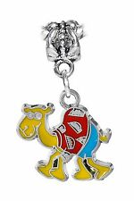 Multi-Color Camel in Clothes Cartoon Animal Enamel Charm for European Bracelets