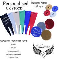 Personalised Metal Golf Ball Marker & Repair Tool Names & Logo gift Vincenza UK