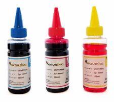 3 x 100ml Universal Cyan Magenta Yellow refill ink Bottles kit CISS cartridge