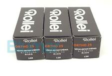 3x Rollei ORTHO 25 plus 120 Medium Format B&W film ISO 25 extremely fine grain