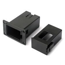 1PC 9V Battery Black Holder Case Box Compartment Cover Guitar Bass Pickup New