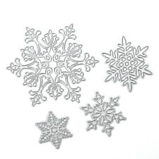 4pcs/set DIY Christmas Snowflake Cutting Dies Metal Cutter Stencils Embossing