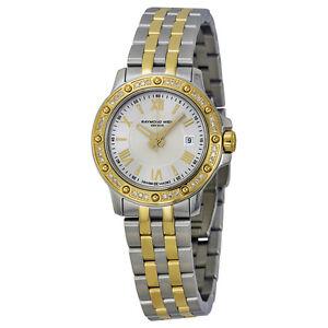 Raymond Weil Watch Tango Diamond Two Tone Gold Silver 5399-SPS-00657 NEW! 27776