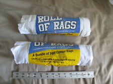 (2) NEW Roll of Rags Soft Cotton Paint Dust Polish Clean-up / 2 pounds of rags!
