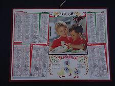 Calendrier Almanach 1968 caneton PTT calendar France calendario Kalender