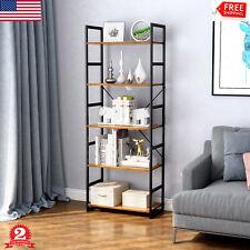 5Tier Bookcase Bookshelf Storage Shelving Organizer Books Plant Holder Shelf New