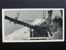 No.26 ANTI AIRCRAFT DRILL ON A SUBMARINE Britains Defenders by Ardath 1936