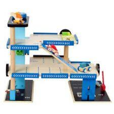 New Hape City Parking Garage Pretend Play Wooden Cars Toy