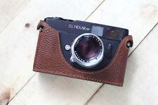 Genuine Leather half case for Konica Hexar RF Télémètre-marron-Neuf