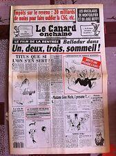 Le Canard Enchainé 25/8/1993; Impots; 20 Milliards de moins pour oublier la CSG