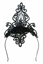 Morgan & Taylor Black Lace Diamond Headpiece - Taya Ladies Hat Women's
