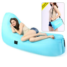 Inflatable Lounge Air Sleeping Bag Lazy Chair AirBed Beach Sofa Bed Water Float
