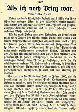 Als ich noch Prinz war Der Dichter und Schriftsteller Otto Ernst Schmidt von1912