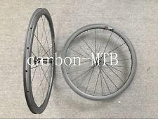 700C 38mm Clincher Carbon Wheels Novatec 511/522 Hub Road Bike Wheelset Tubeless