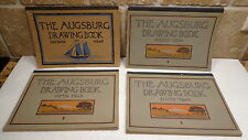 THE AUGSBURG DRAWING BOOK 1924 1931 Lot 4 books 2nd, 4th, 5th, 6th year