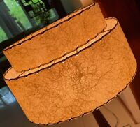 Vintage 50s 60s Double Tier Fiberglass Lamp Shade Mid Century Modern Atomic Era