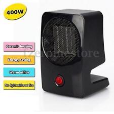 Portable 400W Electric Fan Heater Mini Desktop Warm Convector Winter Space Home