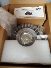 RAB Lighting HAZLED 42C-G 42W 3000K Cool LED HAZ Clear Globe Wire Guard Gray