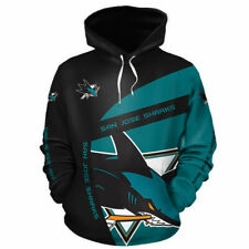 SAN JOSE SHARKS Hoodie Hooded Pullover S-5XL Ice HOCKEY Team Fans NEW DESIGNS