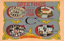WI - 1918 City of Four C's Chairs Churches Cheese & Children Sheboygan Wisconsin