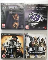 PS3 Game Bundle -Call Of Juarez The Cartel+Bound In Blood+Saints Row 4+3-(635)