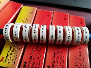 3M ScotchCode SDR Wire Marker Tape Kabelmarkierer 10 verschiedene Ziffern 0-9