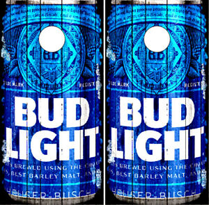 Bud Light Cornhole Wraps Boards Full Can Decals Bag Toss Game Stickers