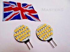 2 x G4 24SMD 3528 12Volt DC 1.4Watt W/White LED Disc Bulbs  - Genuine UK Stock