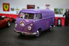 1966 COMBI Loose No Box SOLIDO PURPLE PEACE PANEL VAN VW Beetle BUS 1:18 SCALE