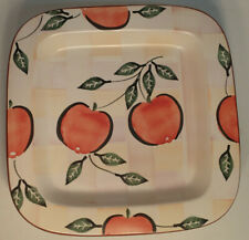 """Handpainted 16"""" CERAMICHE TOSCANE Square Serving Platter Plate Made In Italy"""