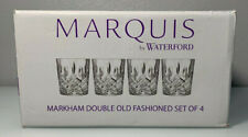 Marquis by Waterford Markham Double Old Fashioned Bourbon Whiskey Glasses 4PC