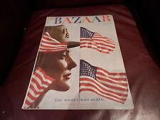 BAZAAR July 1943 Blumenfeld Women War Time Patriotic flag