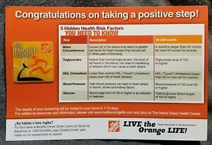 LMH PINBACK Pin MY HEALTH MATTERS Center HOME DEPOT Live the Orange Life Power