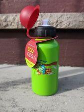 Stainless Steel Water Bottle 13.5oz Capacity Crocodile Creek -Wolf Knight Green