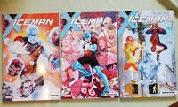 Iceman Vol 1-3  Marvel TPB BRAND NEW X-Men lot Bobby Drake 2017 2018 Spider Man