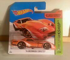 '76 Greenwood Corvette #237/250 - HTF SHORT CARD - 2014 Hot Wheels