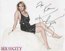 KIM CATTRALL Signed 10x8 Photo SEX AND THE CITY COA
