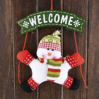 Christmas Snowman Door Hanging Xmas Home Party Marker Ornament Lovely Adorn