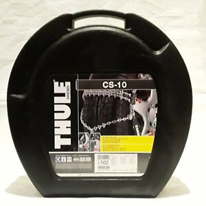 Thule CS-10 070 Snow Tire Chains One Pair With Case Fits Many Sizes