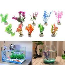 10 Pack Aquarium Fish Tank Plastic Plants for Decoration MULTIPLE STYLES COLOURS