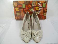 """New Jeffrey Campbell Beige Leather Heel Pumps With Bow Size 9 Heel 2.5"""""""