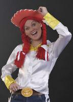 Ladies Fancy Dress Jessie Toy Story Style Red Wig