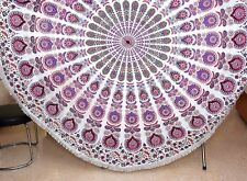 Indian cotton round mandala hippie wall hanging table cover beach blanket throw
